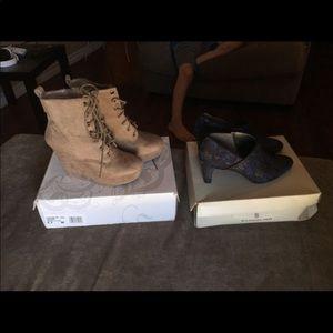 Shi new boots size 8.5 and bandolino heels size 9